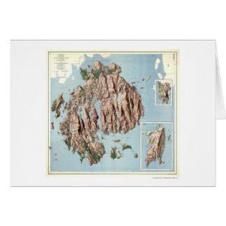 Mapa 1960 del parque nacional del Acadia Tarjeta