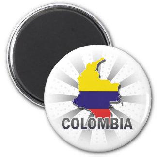 Mapa 2,0 de la bandera de Colombia Imán De Frigorifico