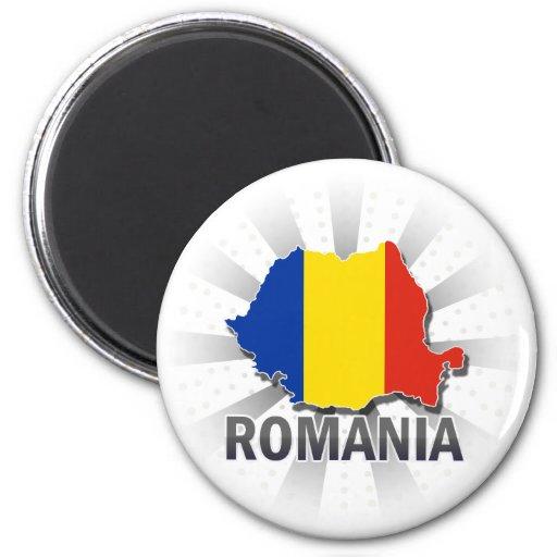 Mapa 2,0 de la bandera de Rumania Imanes