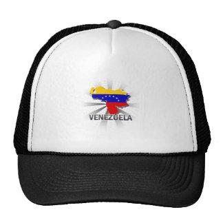Mapa 2,0 de la bandera de Venezuela Gorras