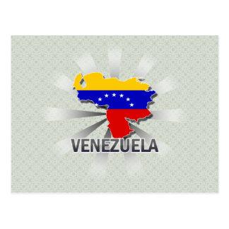 Mapa 2,0 de la bandera de Venezuela Tarjetas Postales