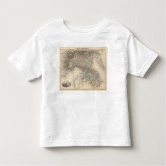 Mapa 2 de Italia Camisetas