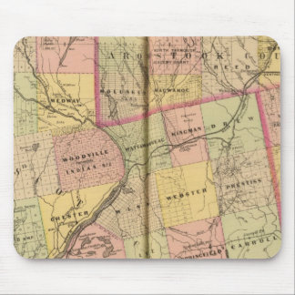 Mapa 2 de las tierras 3 de la madera alfombrilla de ratón