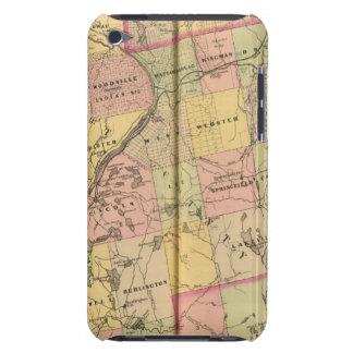 Mapa 2 de las tierras 3 de la madera barely there iPod protectores