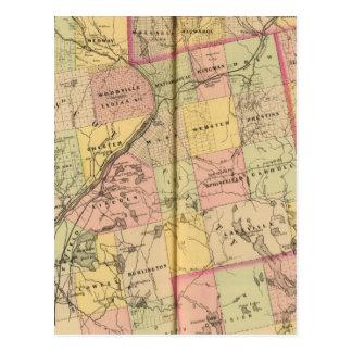Mapa 2 de las tierras 3 de la madera postal