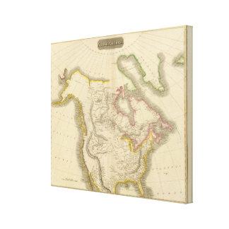 Mapa 2 de Norteamérica Impresion De Lienzo