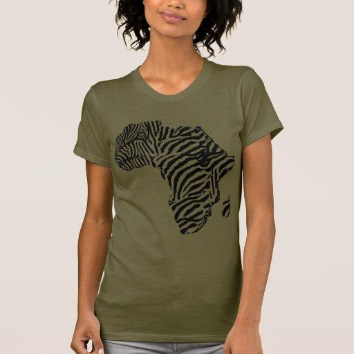 Mapa africano de África del safari del estampado Camiseta