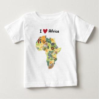 Mapa africano del safari - corazón África de I - Camiseta De Bebé