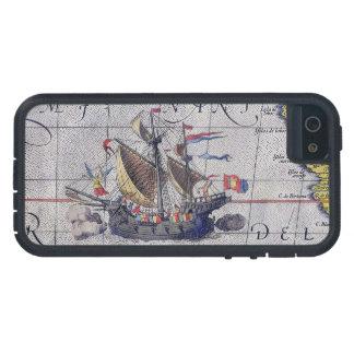 Mapa alto de la nave del Océano Pacífico Funda Para iPhone SE/5/5s