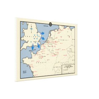 Mapa americano de la campaña del bombardero, lienzo