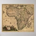 Mapa antiguo de África 1680 de Frederick De Wit Póster