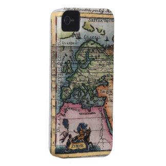 Mapa antiguo de Europa iPhone 4 Fundas