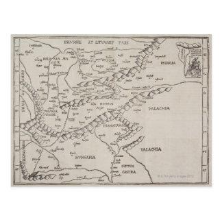 Mapa antiguo de Europa Oriental Postal