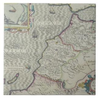 Mapa antiguo de las Áfricas occidentales Azulejo Ceramica