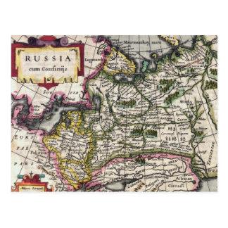 Mapa antiguo de las postales de Rusia - Peter