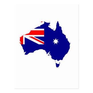 Mapa australiano de la bandera postal