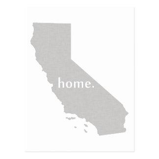 Mapa casero del estado de la silueta de California Postal