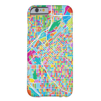 Mapa colorido de Denver Funda Barely There iPhone 6