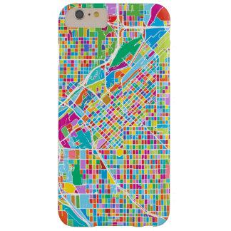 Mapa colorido de Denver Funda Barely There iPhone 6 Plus