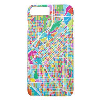 Mapa colorido de Denver Funda iPhone 7 Plus