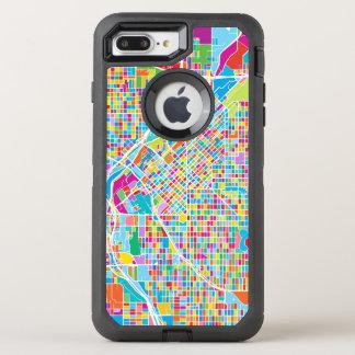 Mapa colorido de Denver Funda OtterBox Defender Para iPhone 7 Plus