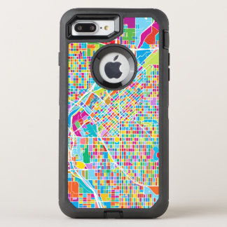Mapa colorido de Denver Funda OtterBox Defender Para iPhone 8 Plus/7 Plus