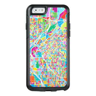 Mapa colorido de Denver Funda Otterbox Para iPhone 6/6s