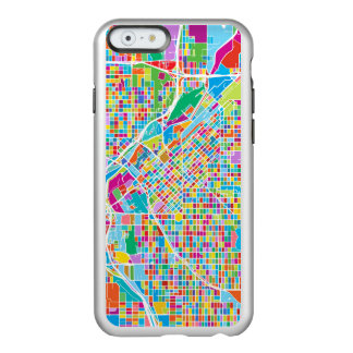 Mapa colorido de Denver Funda Para iPhone 6 Plus Incipio Feather Shine