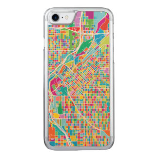 Mapa colorido de Denver Funda Para iPhone 8/7 De Carved