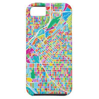 Mapa colorido de Denver Funda Para iPhone SE/5/5s