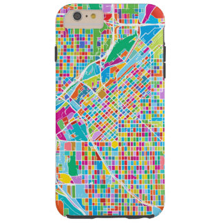 Mapa colorido de Denver Funda Resistente iPhone 6 Plus