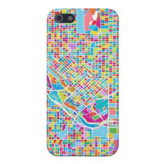Mapa colorido de Denver iPhone 5 Cárcasa
