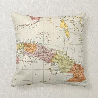 MAPA: CUBA, 1900 COJÍN DECORATIVO