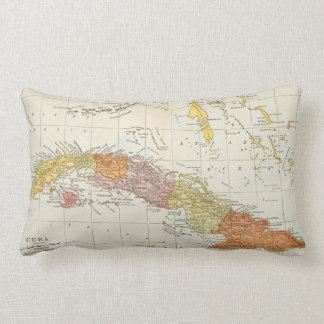 MAPA: CUBA, 1900 COJÍN LUMBAR