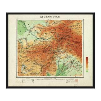 Mapa de Afganistán (1912) Impresión En Lienzo