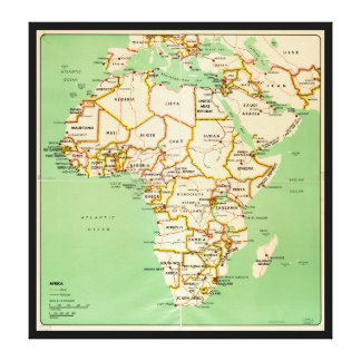 Mapa de África (1966) Impresión En Lienzo