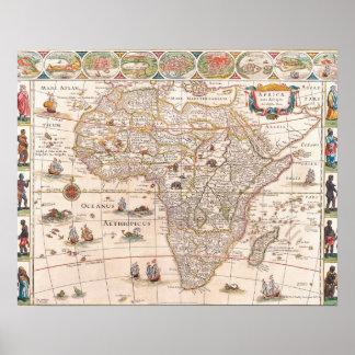 Mapa de África 3 Póster