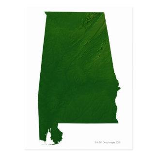 Mapa de Alabama Postal