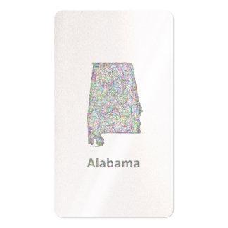 Mapa de Alabama Tarjetas De Visita