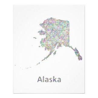 Mapa de Alaska Folleto 11,4 X 14,2 Cm