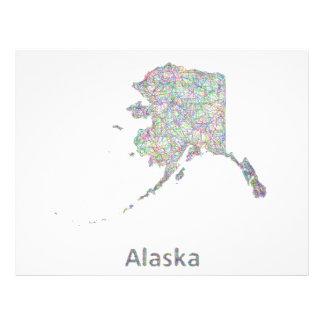 Mapa de Alaska Folleto 21,6 X 28 Cm
