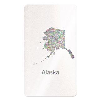 Mapa de Alaska Tarjetas De Visita