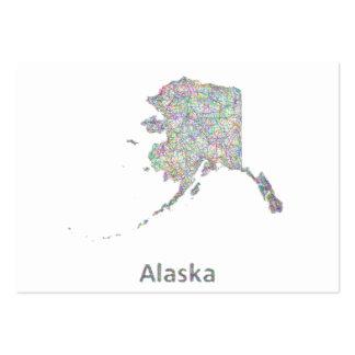 Mapa de Alaska Tarjetas De Visita Grandes
