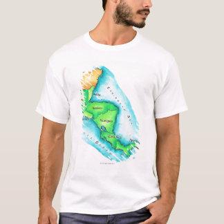 Mapa de America Central Camiseta