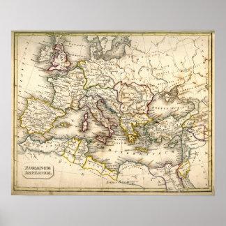 Mapa de Antquie del imperio romano antiguo Póster