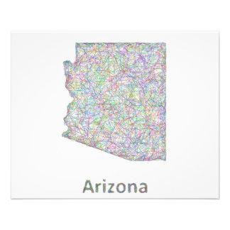 Mapa de Arizona Folleto 11,4 X 14,2 Cm