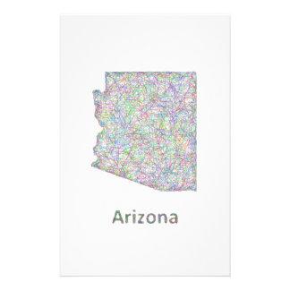 Mapa de Arizona Folleto 14 X 21,6 Cm