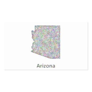 Mapa de Arizona Tarjetas De Visita