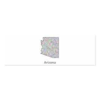 Mapa de Arizona Tarjetas De Visita Mini