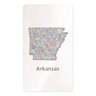 Mapa de Arkansas Tarjetas De Visita